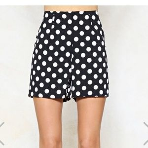 Nasty Gal Polka Dot Tailored Shorts